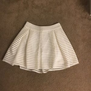 Express white striped lace skirt!